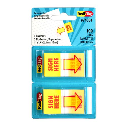 sign-here-page-flags-50-flags-pop-up-dispensers-yellow-red-2-dispensers-pack-sold-as-1-package