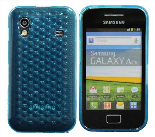 Luxburg® Diamond Design Schutzhülle für Samsung Galaxy Ace GT-S5830 in Farbe Aquamarin Blau / Hellblau, Hülle Case aus TPU Silikon