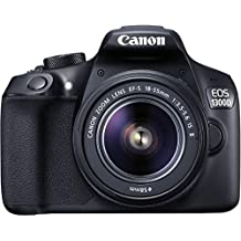 (CERTIFIED REFURBISHED) Canon EOS 1300D 18MP Digital SLR Camera (Black) With 18-55mm ISII Lens, 16GB Card And Carry Case
