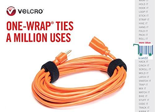Velcro® Marke Haken und Loop one-wrap ® Rückseite an Rückseite Umreifung in weiß 2cm breit, weiß, 10 m