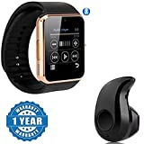 #6: Captcha GT08 Smart Watch Pedometer Call Reminder Bluetooth Smart Watch With SIM Card Slot, S530 Stylish Mini Wireless Bluetooth In-Ear V4.0 Handfree