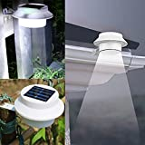 Bluelover Garden 3 LED Solar Power Fence Gutter Light Super Bright Outdoor Yard Aisle Panel Lamp