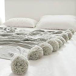 Minions Boutique Manta de algodón con diseño de Pompones Adultos y niños