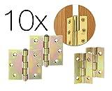 10x Scharniere Türangel Scharnier Messing Schrank Steckverbinder 25 mm für Schrank