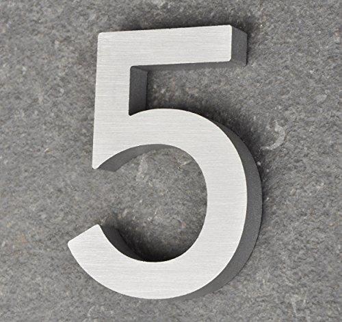 nanook Numéro de maison 5 en aluminium massif brossé 100...