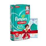 #9: Pampers Extra Large Size Diapers Pants (56 count) and Pampers Fresh Clean Baby Wipes (64 count) combo pack