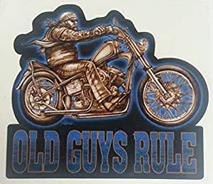Oldschool stickers autocollants pour vélo old guys bobber motard chopper