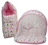 #10: Amardeep Baby Mattress with Mosquito Net, Sleeping Bag Combo 0-3 Months (pink)