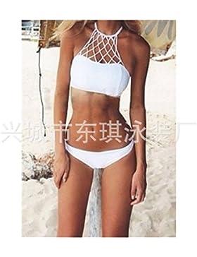 Conjuntos de Bikini Sexy traje de baño Trajes de Baño expuesta de adelgazamiento Color puro mano expuestos expuestos...