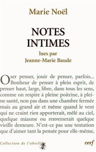 Marie Noël : Notes intimes par Jeanne-Marie Baude