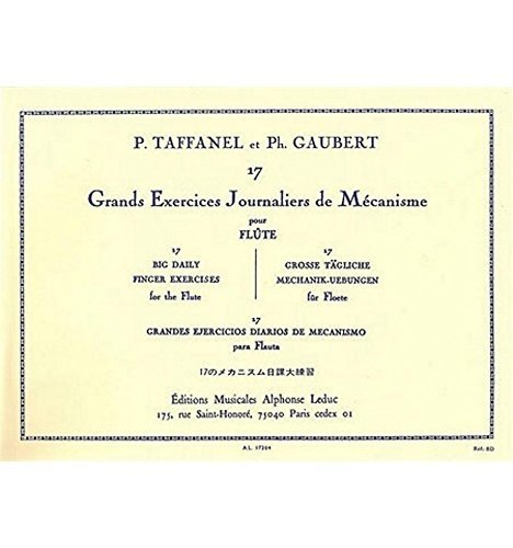 17 grands exercices journaliers de mécanismes flûte traversière - Taffanel et Gaubert - Stock 2