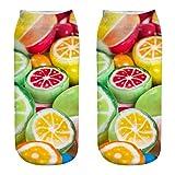 EUZeo Unisex 3d Drucken Socken, Süßigkeiten Bunt gemusterte Casual Funny Dessert Pattern Dressed Sortierungen Baumwollsocken für Damen und Herren Fun Sock