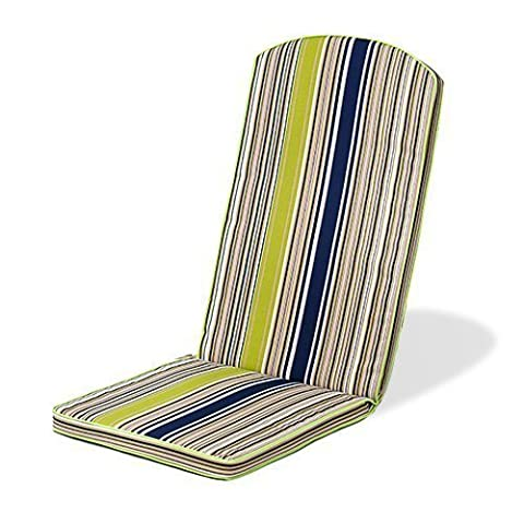 Gardenista® Gold Collection Multi Stripe Green Piped Edge Garden Adirondack Chair Cushion Outdoor