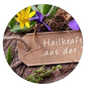 tappetino per mouse le erbe in fiore - potenza della natura di guarigione - il giro - 20cm