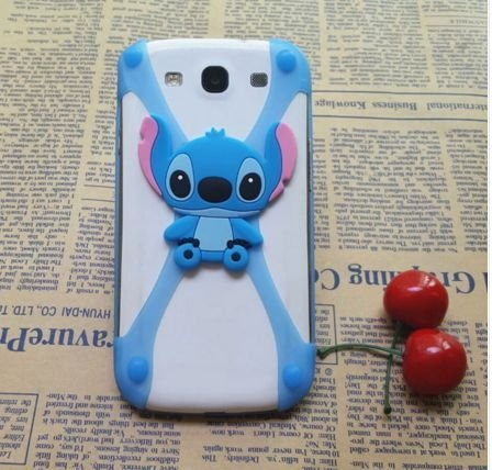 3D Cartoon Stitch Minnie kitty Silicone Universal Phone Frame Bumper Case For iphone 4 5S 6S 7 Plus Cover For All Phone 3-6 inch  available at amazon for Rs.199