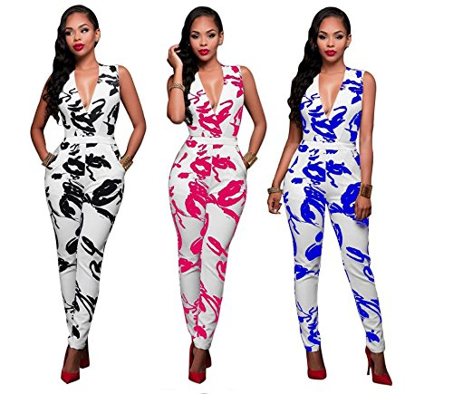 Combinaison Femme IHRKleid® Mode Imprimer Gilet Jeans/Pantalons Ensemble Bleu
