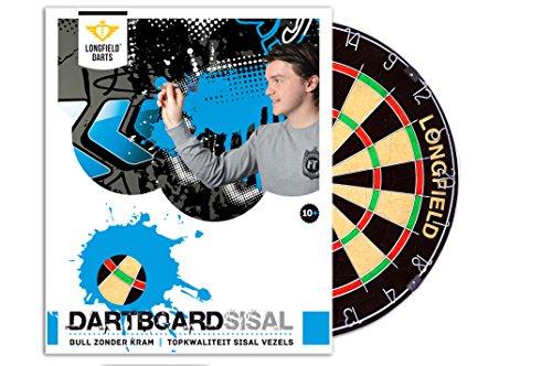 Longfield Darts Unisex Turnier Dartscheibe, schwarz/rot/grün