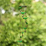 ExclusiveLane Wooden Handpainted & Handmade Decorative Hanging With Parrots - Door Hanging Wind Chimes  Home Decoration Item