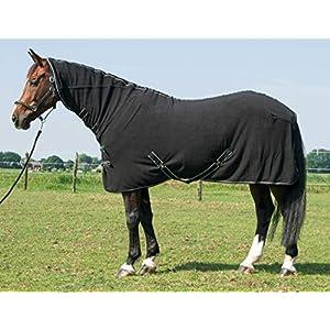 Amesbichler Reitsport Harry`s Horse Fleecedecke Deluxe mit Halsteil schwarz 135 cm Pferde Fleecedecke mit Halsteil…