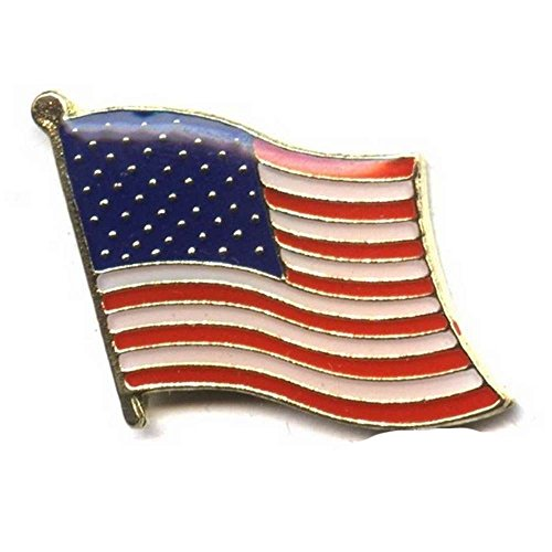 Premiumkollektion S Anstecknadel Flagge US flag Motorrad Custom für Weste und Jacke Biker