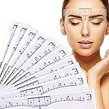 PPX Augenbraue Lineal, 100 pcs Einweg Augenbraue-Lineal Blätter Sticker für Permanent Make-up Schablonen Augenbrauen Microblading Schablone für Augenbrauen Einweg-Tattoo-Aufkleber Positioniert