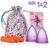 Offre supplémentaire! - Coupes menstruelles - (grandes et petites) - Trouvez votre ajustement parfait - Meilleure alternative aux serviettes hygiéniques
