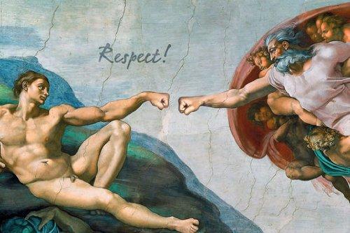 Poster Die Hand Gottes - Respekt - Größe 61 x 91,5 cm - Maxiposter (Die Hand Gottes)