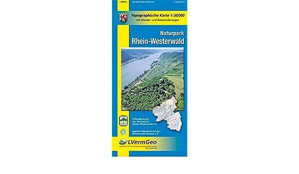 Westerwald Karte.Naturparkkarten Naturpark Rhein Westerwald Freizeitkarten