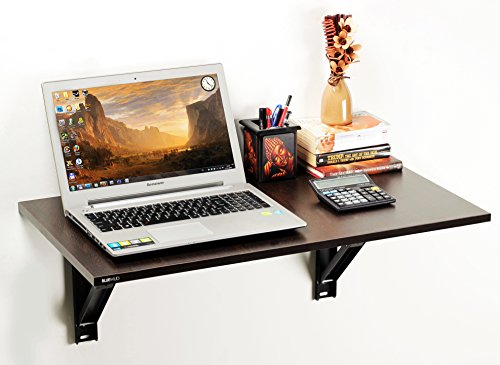 Bluewud Hemming Folding Wall Mounted Study/Computer/Laptop/Office Table (Wenge) ST-HE-W