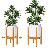 OGIMA Support de Plante réglable en Bois pour intérieur et extérieur en Pot de Fleurs Moderne