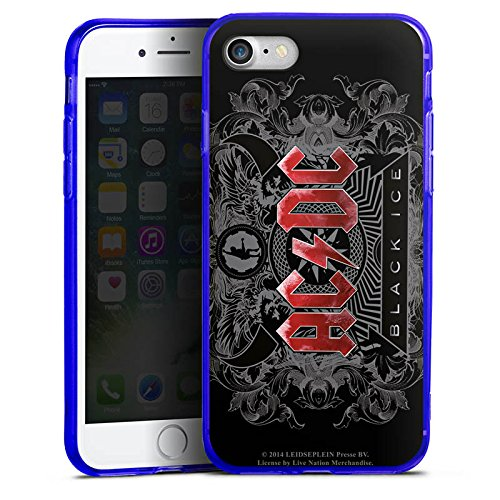 Apple iPhone 8 Silikon Hülle Case Schutzhülle ACDC Merchandise Fanartikel black ice Silikon Colour Case blau