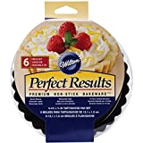Wilton Perfect Results Tart/Quiche Pans 6/Pkg-Round 4-inch, Other, Multicoloured, 7.08 x 14.7 x 14.7 cm