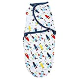 #7: Swaddle Blanket, Adjustable Infant Baby Wrap By House of Quirk Soft Cotton - Plane