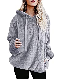 Yvelands Womens Warm Fluffy Winter Sudadera con Capucha Sudadera Ladies Jumper Coat Blusa Liquidación!