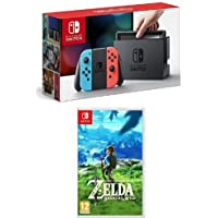 Nintendo Switch - Blu/Rosso Neon + The Legend of Zelda: Breath of the Wild
