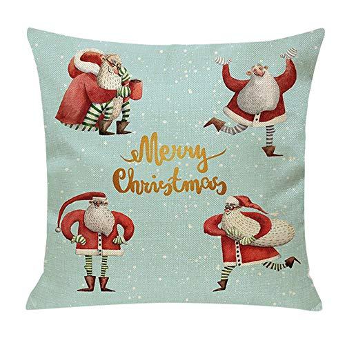 Yazidan Weihnachtsbaum GemüTlich Sofa Festival Kissenbezug Kissen Weich BettwäSche Aus Baumwolle...