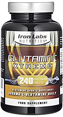 Glutamine Xtreme | L-Glutamine 500mg x 240 Tablets | Highest Quality GLUTAMINE - Sports Supplement | 240 Vegetarian Tablets Manufacturer: Iron Labs Nutrition