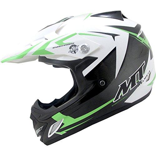 el Kids Motocross Helmet S Black White Green (Gold Atv Helm)
