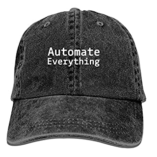 EANTE Mens Baseball Cap-Automate Everything Trucker Caps for Men, Adjustable Cool Cowboy Hat