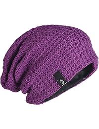 Mens Slouchy Long Oversized Knit Beanie Cap for Summer Winter B08