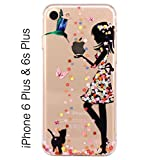 Best I Phone 6 Case For Girls - Kc Soft Printed Flower Angel Standing Girl Review