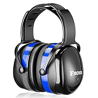 Casque Anti bruit, Fnova Manchons d'oreille Ear Protection avec NRR 34dB, Casque réduction du Bruit pour Enfant Adulte Protection Auditive, Certifié par ANSI S3.19 & CE EN521 (Blue.)