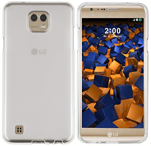 mumbi Schutzhülle für LG X Cam Hülle transparent weiss