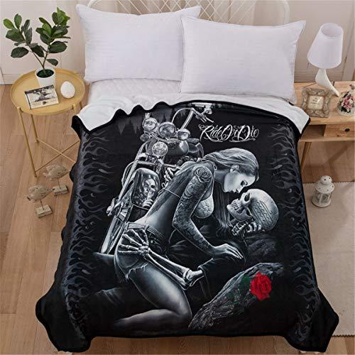 WONGS BEDDING Simulation Shantou Rosen Halloween Grimasse Gothic Bettwäsche Steppdecken Erwachsene und Jugendliche, 150 * 200cm - Erwachsene Bettwäsche