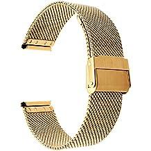 TRUMiRR 16 mm correa de reloj de milano de acero tejida banda mejorada Correa para la muñeca para Moto 360 2 42 mm de las mujeres, Huawei Talkband B3, otros relojes de 16 mm Lug