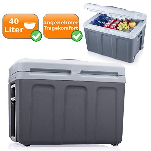 Trooley Kühlbox mit 40Liter Fassungsvermögen, 2in1 Funktion = kühlt und wärmt, Energieeffizienzklasse A++