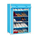 PINDIA FANCY 5 LAYER SKY BLUE SHOE RACK ORGANIZER