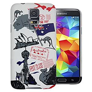 Heartly Flag Printed Design High Quality Hybrid Tough Armor Hard Bumper Back Case Cover For Samsung Galaxy S5 i9600 - Australia