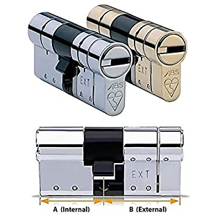 Avocet ABS High Security Euro Cylinder - Anti Snap Lock - TS007 3 Star (35(INT) x35(EXT), Chrome)