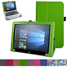 """HP Pavilion x2 12 Funda,Mama Mouth Slim PU Cuero Con Soporte Funda Caso Case para 12"""" HP Pavilion x2 12-b000ng 12 Inchs Tablet 2016,verde"""